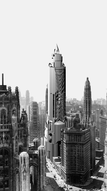 Chicago generated skyscrapers